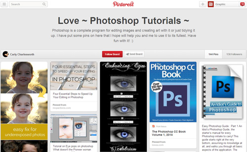 Photoshop Tutorials Pinterest Boards - 15