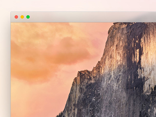 Yosemite window frame PSD