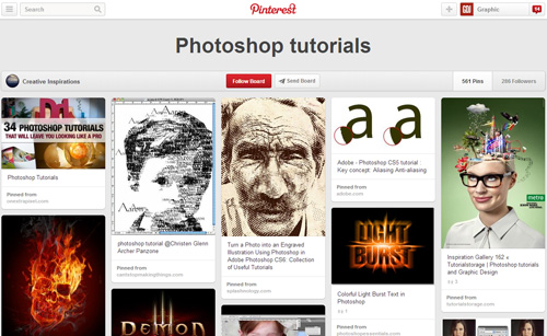 Photoshop Tutorials Pinterest Boards - 16