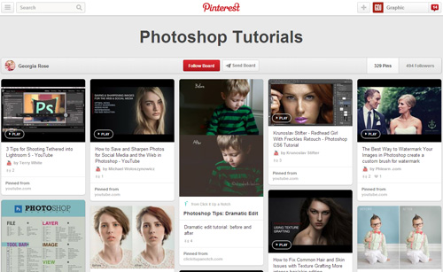 Photoshop Tutorials Pinterest Boards - 17
