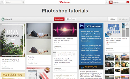 Photoshop Tutorials Pinterest Boards - 19