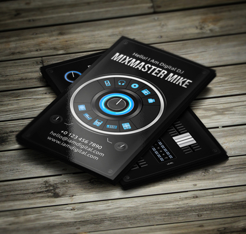 Amazing DJ Business Cards PSD Templates Design Graphic Design - Dj business card template