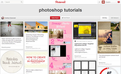 Photoshop Tutorials Pinterest Boards - 20