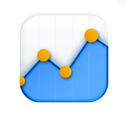 Data stats icon (PSD)