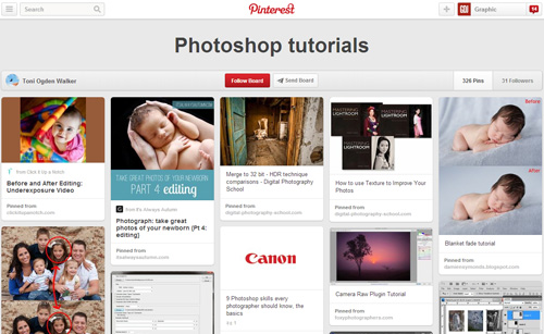Photoshop Tutorials Pinterest Boards - 24