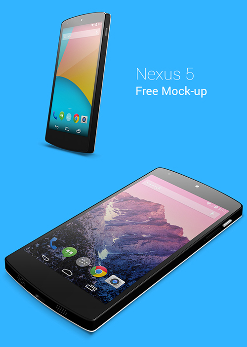 Nexus 5 Free PSD mock-up