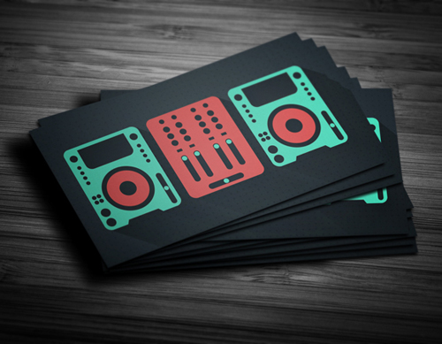 Flat DJ Business Card
