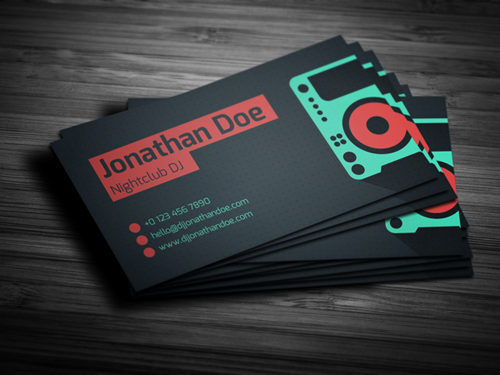 amazing dj business cards psd templates