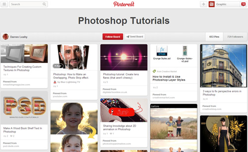 Photoshop Tutorials Pinterest Boards - 9