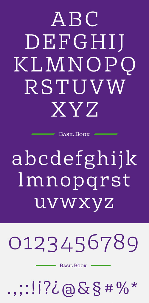 Basil Free Font Letters