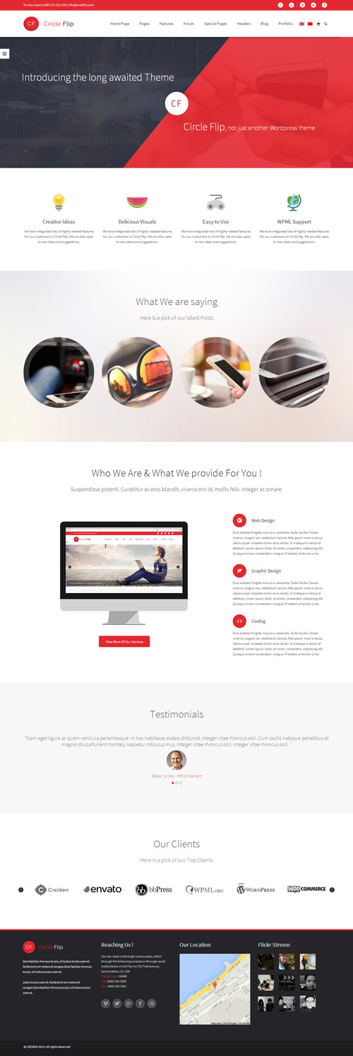 Circle Flip - Responsive Multipurpose Theme