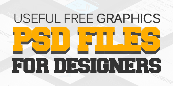 Free PSD Files: 36 Fresh Graphics PSD for Designers