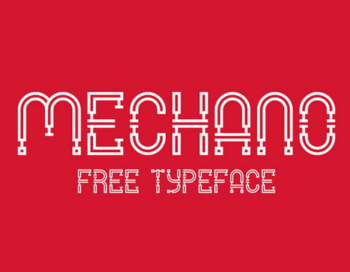 Mechano free fonts for designers