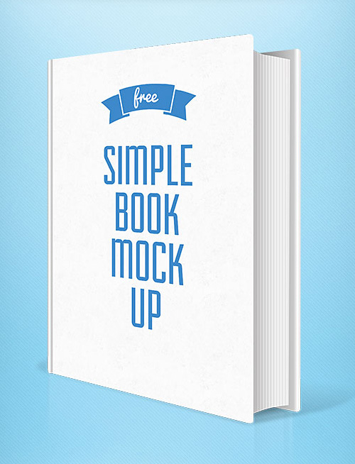 Simple Book Cover Design Psd ~ Free photoshop psd mockups for graphic designers