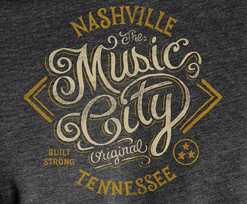 The Music City Typogrpahy design by Derrick Castle