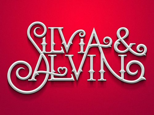 Silvia Alvin Typogrpahy design by sigala