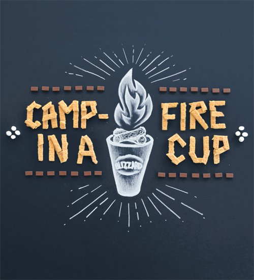 Food Type - Campfire Typogrpahy design by Thomas Price