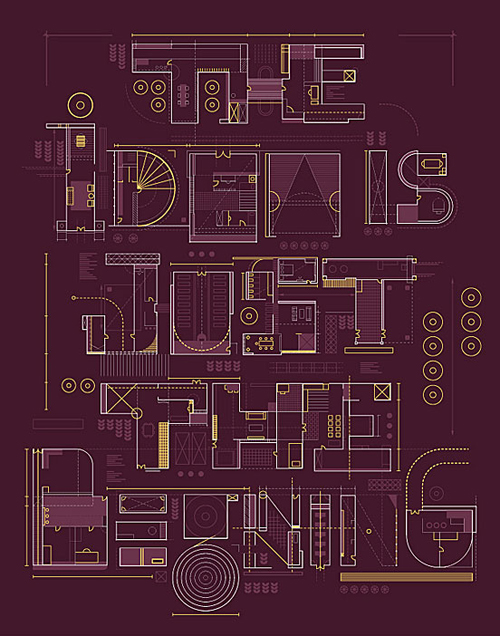 The Idea is Just The Beginning Typogrpahy design by Ricky Linn