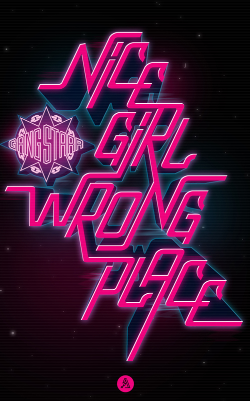 Nice Girl Typogrpahy design by Adrian Iorga