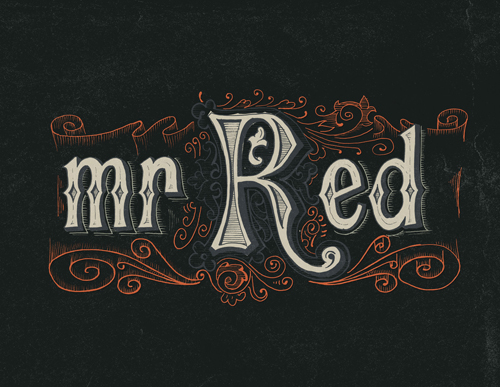 Mr Red  Typogrpahy design by Antonio Rodrigues Jr