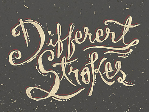 Different Strokes Typogrpahy design by Saylerman
