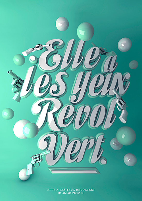 She Has Green Eyes Revol Typogrpahy design by Alexis Persani