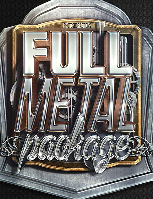 Full Metal Package Typogrpahy design by Nuwan Panditha