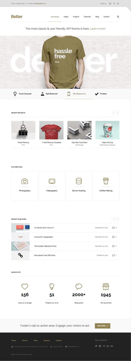 Better – Minimalistic Business WordPress Theme