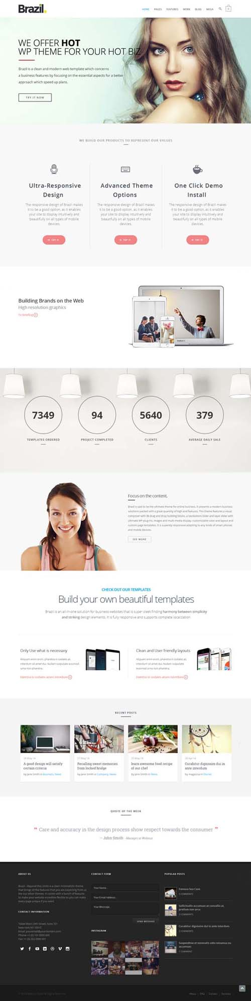 Brazil – WordPress Theme