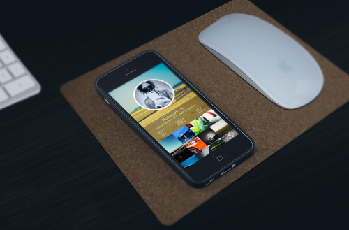 iPhone Work space PSD Mock-ups