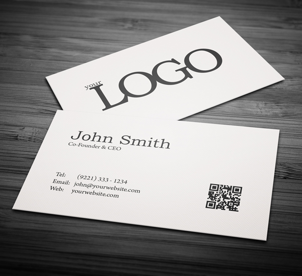 Free minimal business card psd template freebies graphic design minimal business card mockup reheart Images