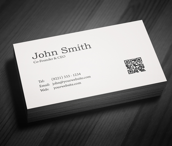 Free minimal business card psd template freebies - Business name for interior design company ...