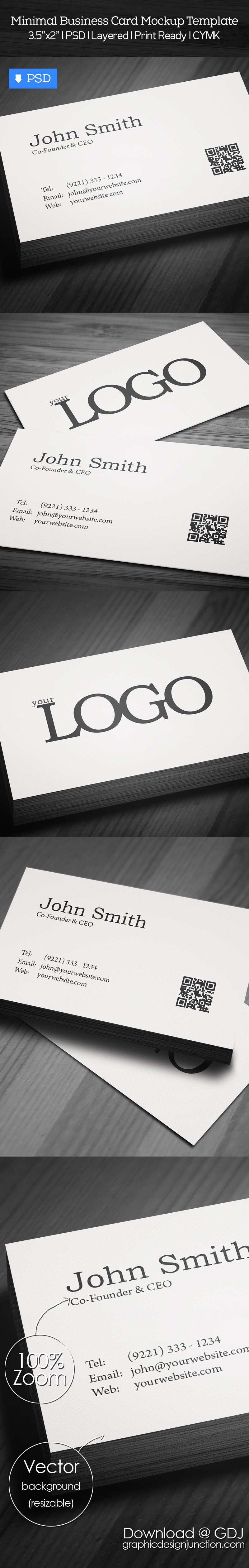 free minimal business card psd template freebies