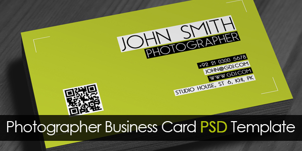 Free Photographer Business Card PSD Template