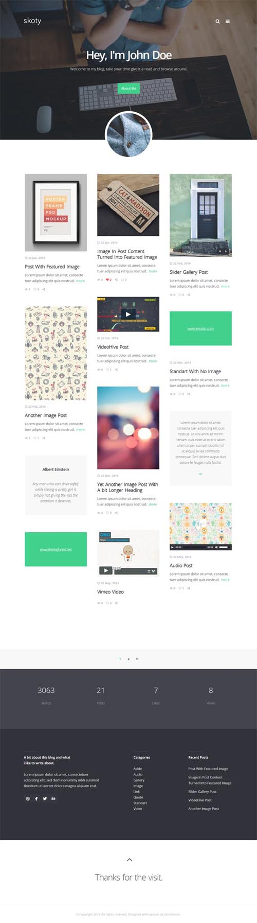 Skoty - Responsive Multipurpose Blogging Theme