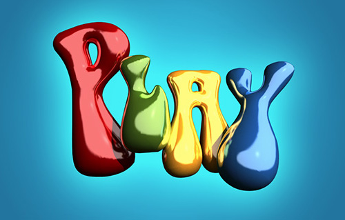 Inflated Text Using 3D in Photoshop CC