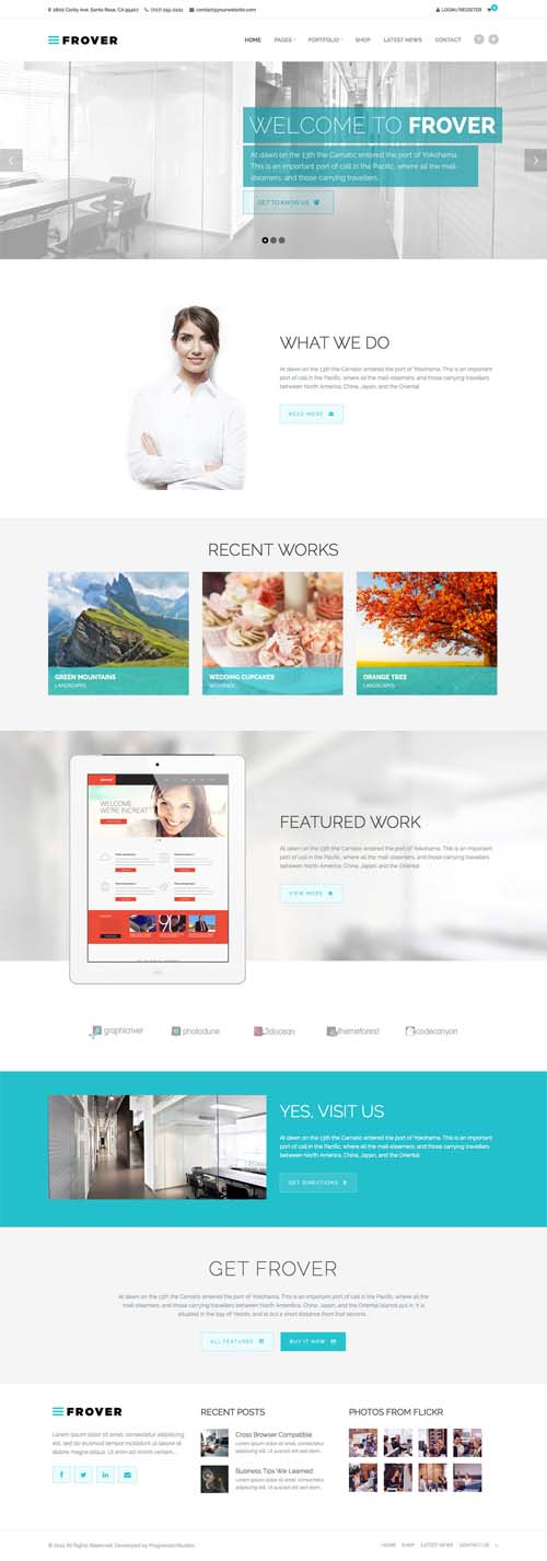 Frover – Muti-Purpose WordPress Theme