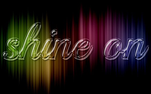 How to Create Colorful Sparkling Glass Text Effect in Photoshop Tutorial