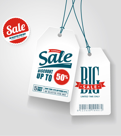White Discount Tag Vector