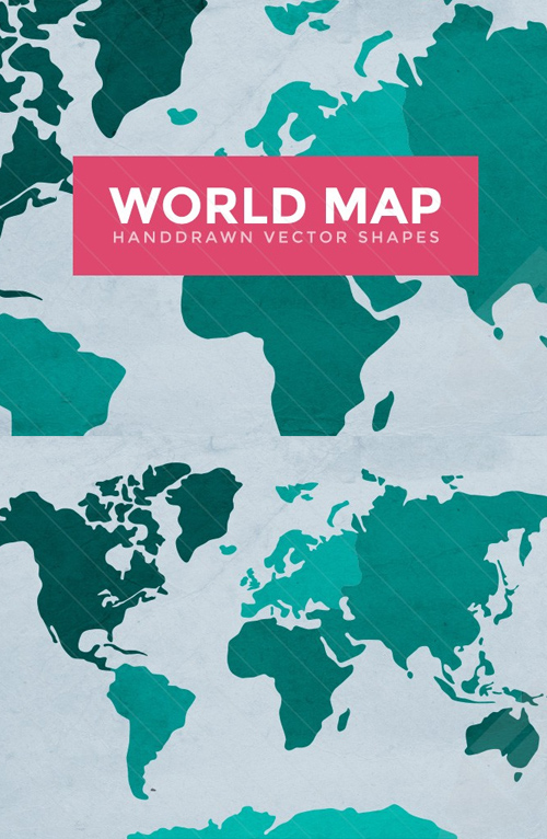 World Map Vector Outlines