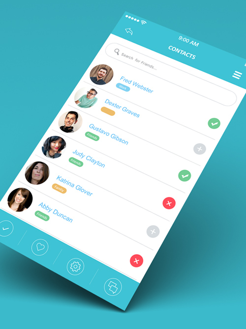 Modern Mobile App UI Designs with UUX | Inspiration | Graphic ...