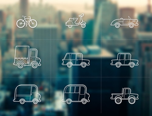 Free set of Outline Vehicles