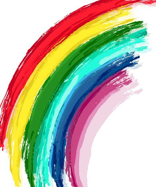 Hand Paint Rainbow Vector