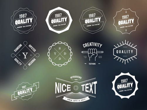Free Vector Hipster Vintage Badges and Insignias Ornaments