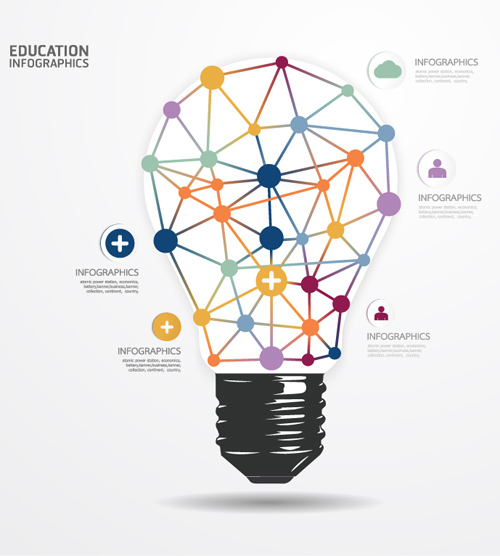 Infographic Lamp Education Vector