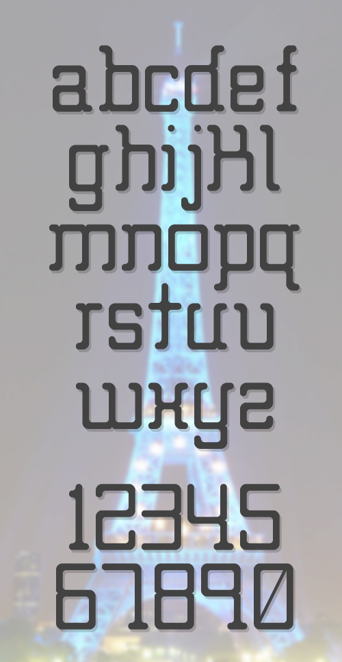 Big Foot free font letters