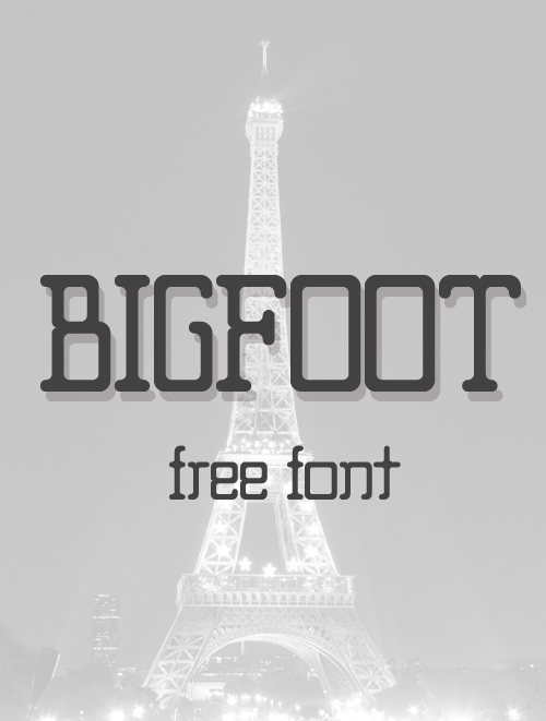 Big Foot free font family download