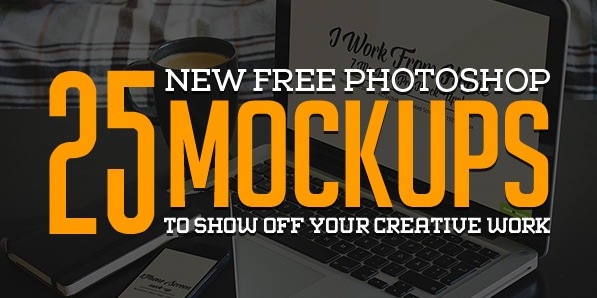 Free Photoshop PSD Mockups for Designers (25 MockUps)
