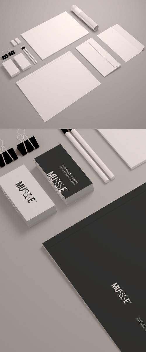 Free Stationary Mockup (Psd Smart Object)