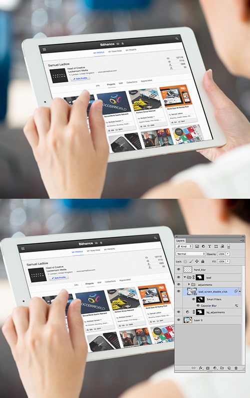 Free iPad website Mockup